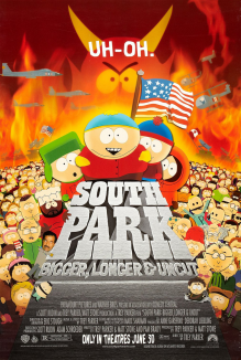 affiche de South Park, le film - Plus long, plus grand et pas coupé