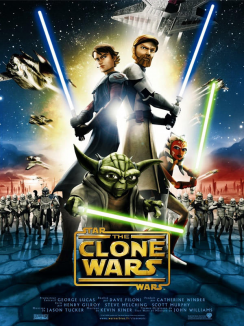 affiche de Star Wars : The Clone Wars